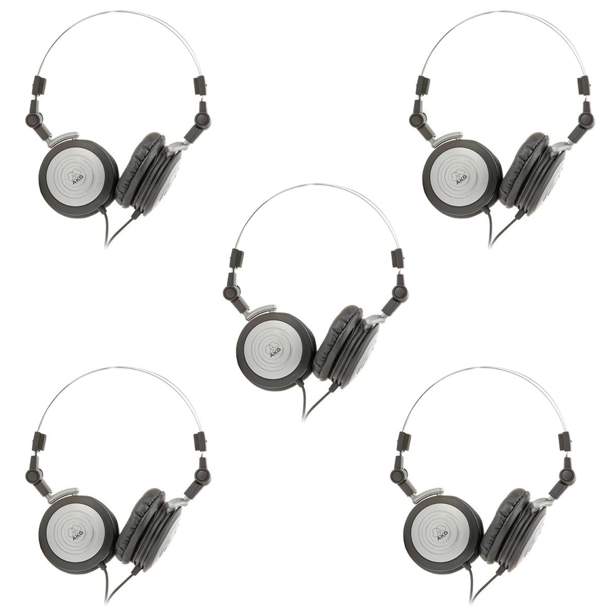 5 Fones para monitor On-ear closed back AKG K414P