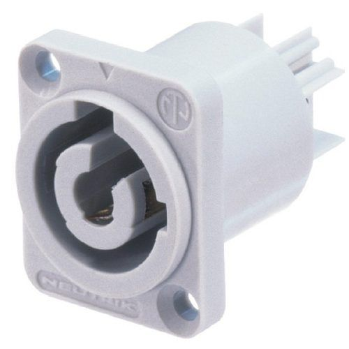 Conector Plug Powercon Macho De Painel Neutrik Nac3mpb-1