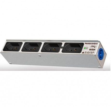 Régua Energia 4 Saida padrão  NBR+ 1 Powercon Azul Neutrik | Pentacustica PSG4NBR