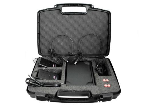 Sistema Microfone S/ Fio Duplo Cabeça Headset Uhf Jwl U585hh