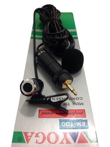 Microfone com fio condensador a bateria de lapela | Yoga | EM-100