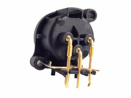 Plug Conector Xlr Macho Painel Pcb 3 Pinos Neutrik Nc3maah1