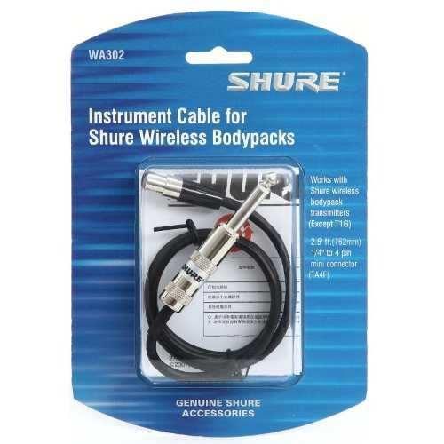 Cabo Instrumento Sistema Sem Fio P10/mini Xlr 4p Shure Wa302