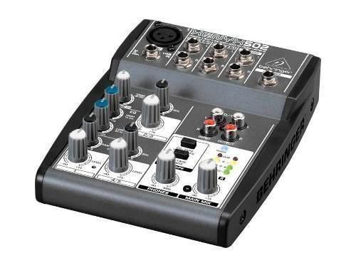 Mesa 1 canal XLR + 2 Estéreo|Behringer Xenyx502