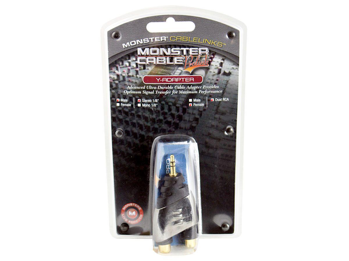 Adaptador 2 RCA p/ 1 P2 Estéreo Monster Cable MSTMINI2FR