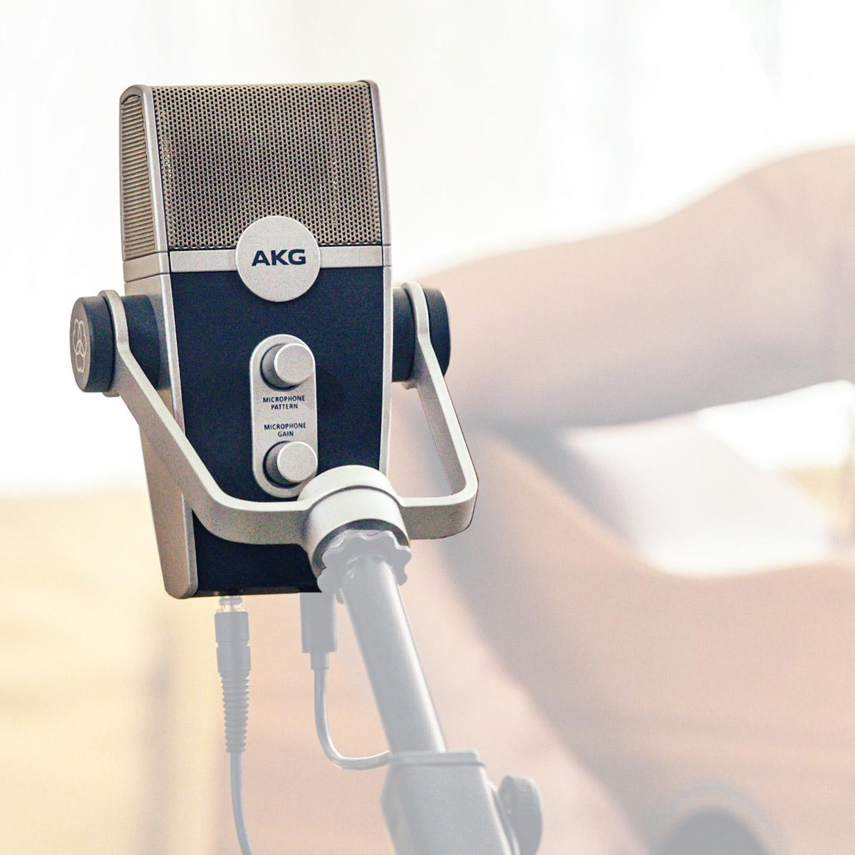 Microfone Condensador USB para PC ou MAC AKG - LYRA