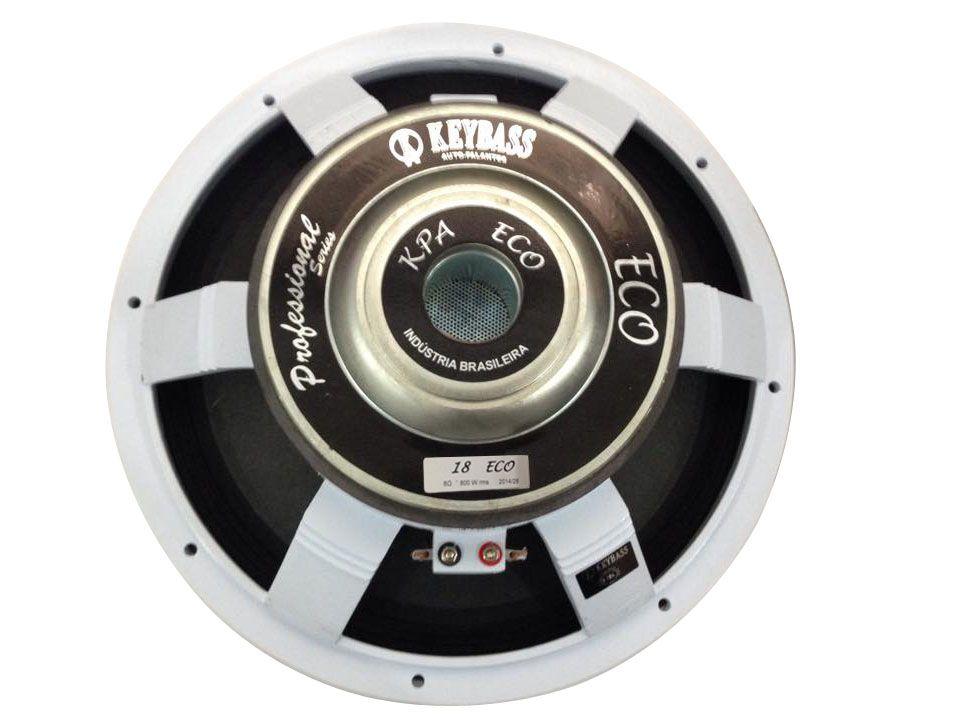 Alto Falante Subwoofer de 18 polegadas com 800 Watts RMS 96,5 dB em 8 ohms | Keybass | 18ECO