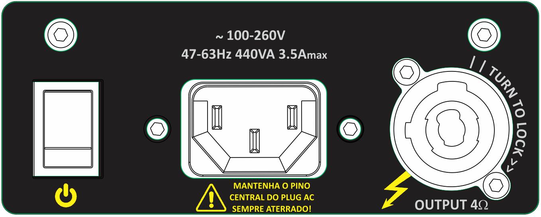 Amplificador Bi-ampli para gabinete   700W LOW, 150W HIGH 4Ω - 8Ω   Next Pro   M700 CROSS