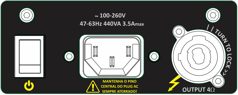 Amplificador Bi-ampli para gabinete | 700W LOW, 150W HIGH 4Ω - 8Ω | Next Pro | M700 DUO