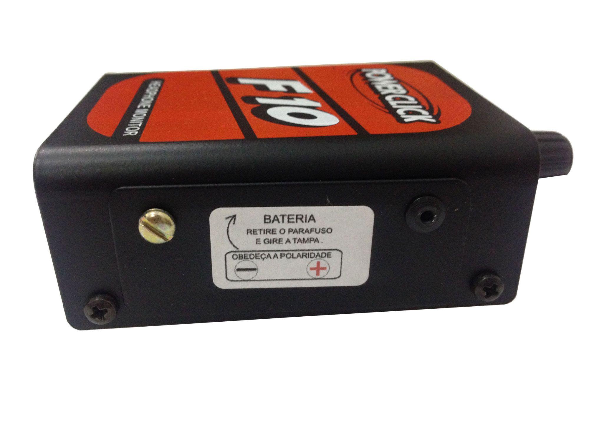 Amplificador de fone 1 canal fonte ou bateria | Power Click | F10