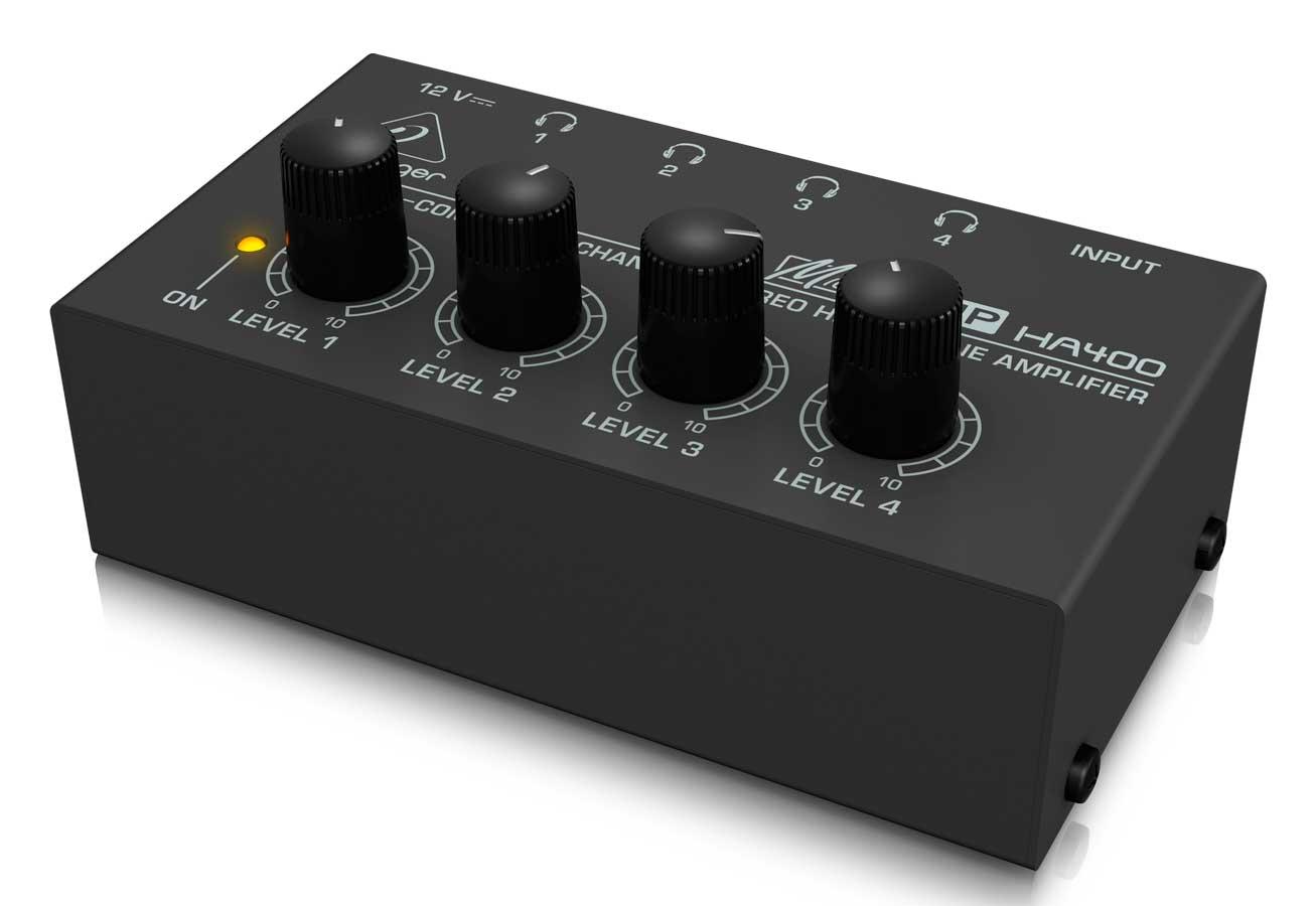Amplificador fone 1 Entrada 4 Saídas Behringer HA400