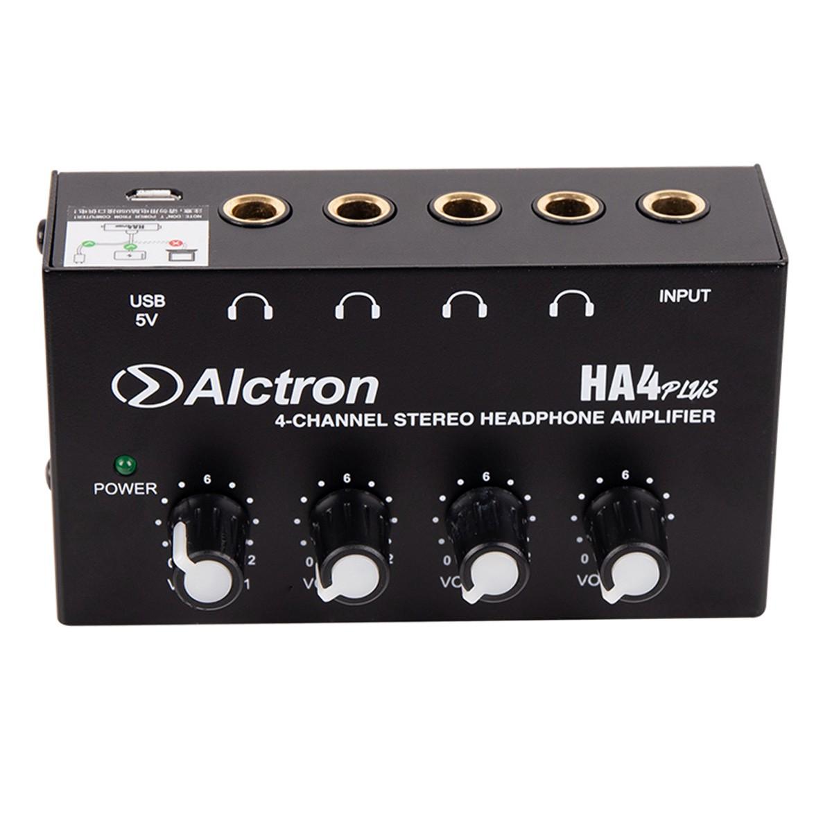 Amplificador de fone com 4 saídas Bivolt Alctron HA4PLUS