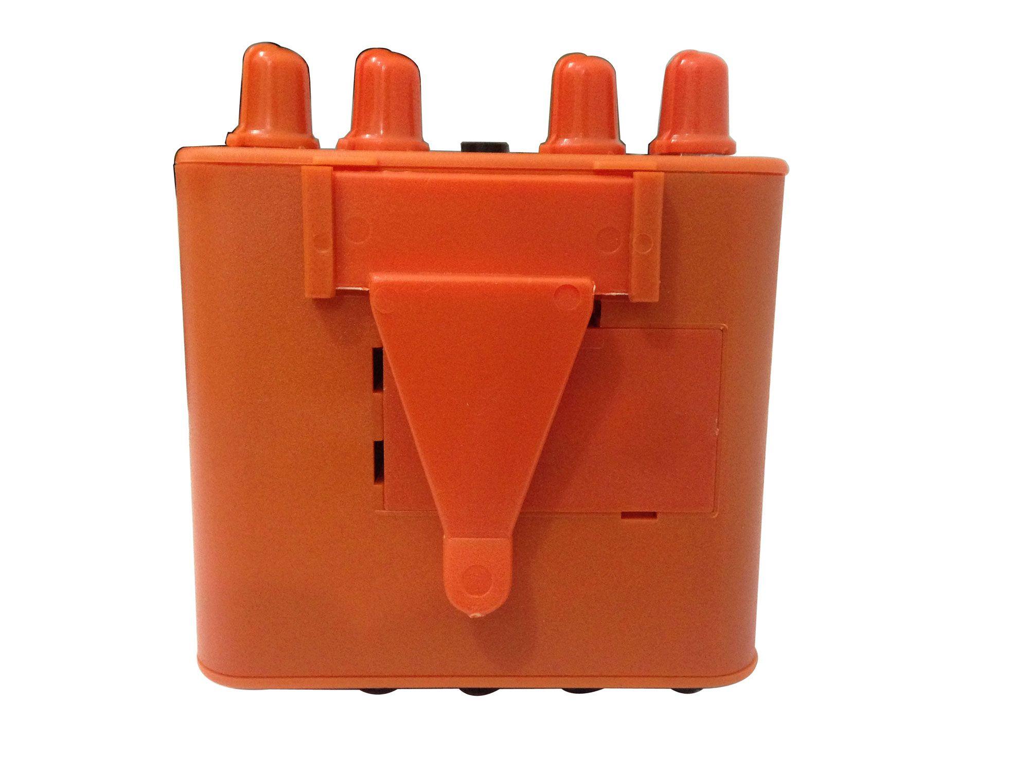 Amplificador de fone e mixer de 2 canais mono | Cor Laranja | Bateria 9v ou Fonte | Power Click | COLOR