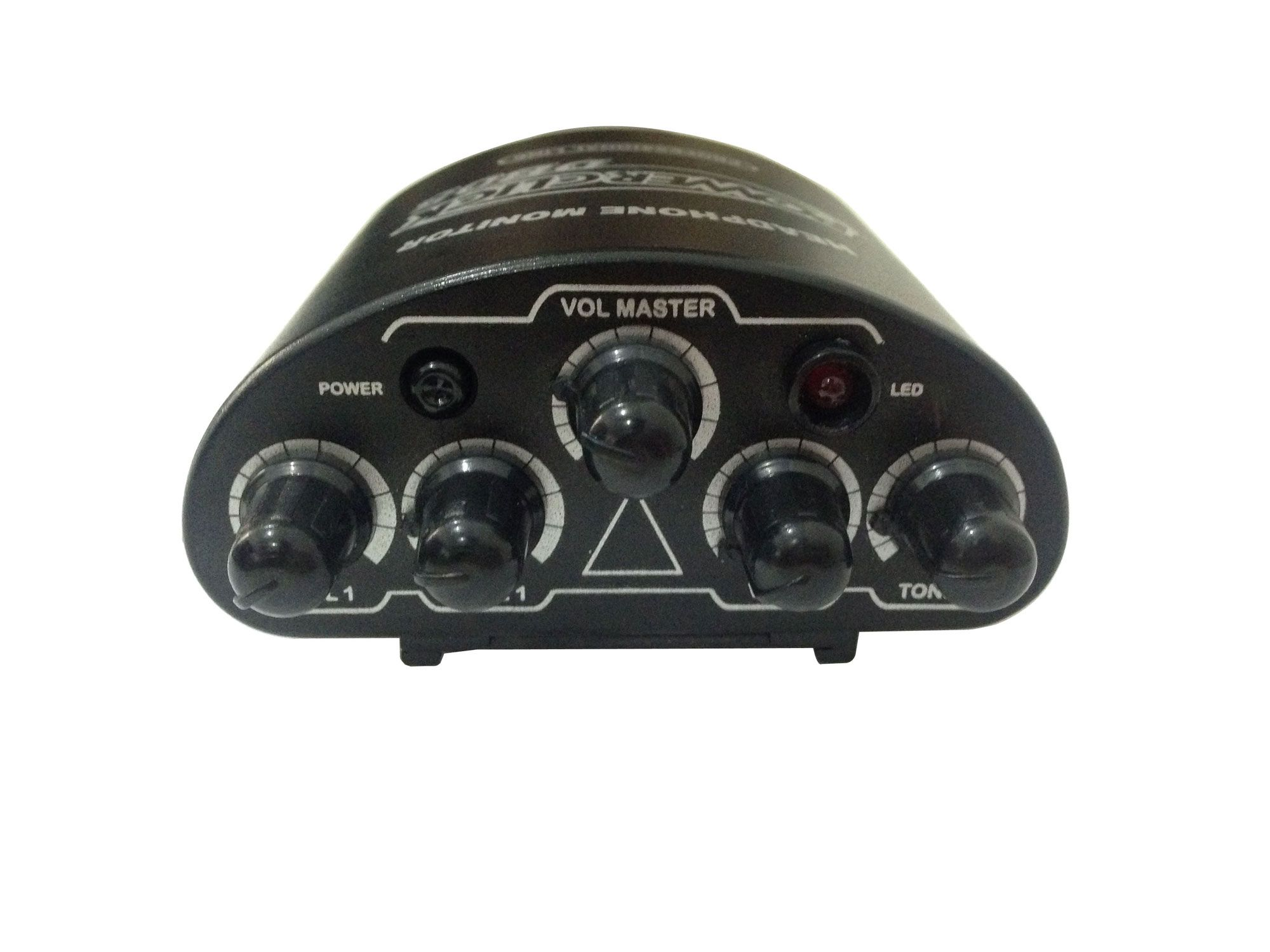 Amplificador de fone e mixer de 2 canais mono | Bateria ou Fonte | Power Click | DB05