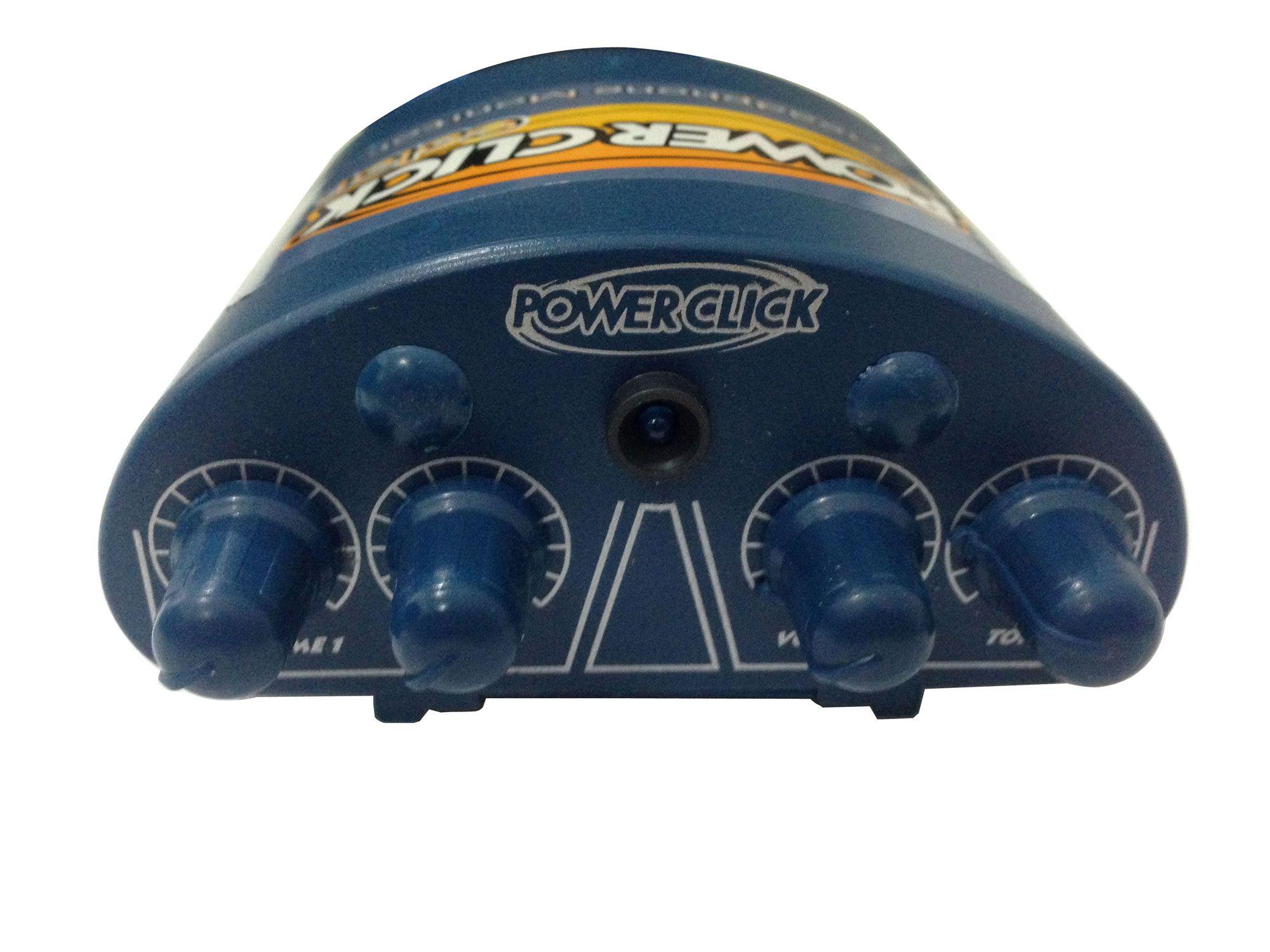 Amplificador de fone e mixer de 2 canais mono | Cor Azul | Bateria 9v ou Fonte | Power Click | COLOR BLUE