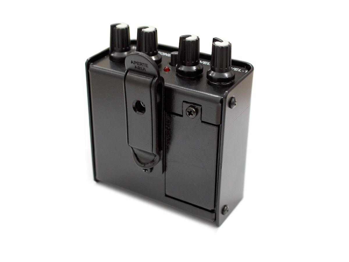 Amplificador de fone individual com 2 canais | Fonte ou Bateria 9V | PWS | PH2000