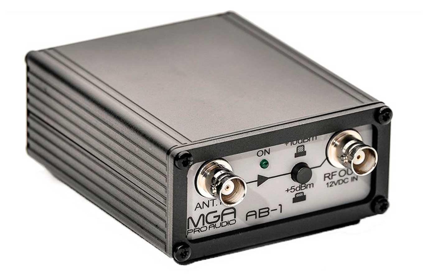 Amplificador de sinal para microfone sem fio | MGA Pro Audio | AB-1