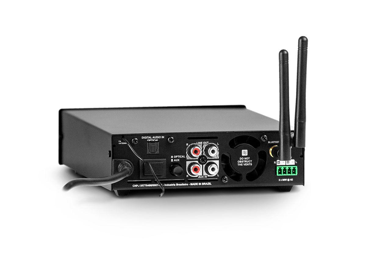 Amplificador de som ambiente de 2 canais de 80W | Wi-fi, Bluetooth, USB e FM | Frahm | RD 160 WIFI