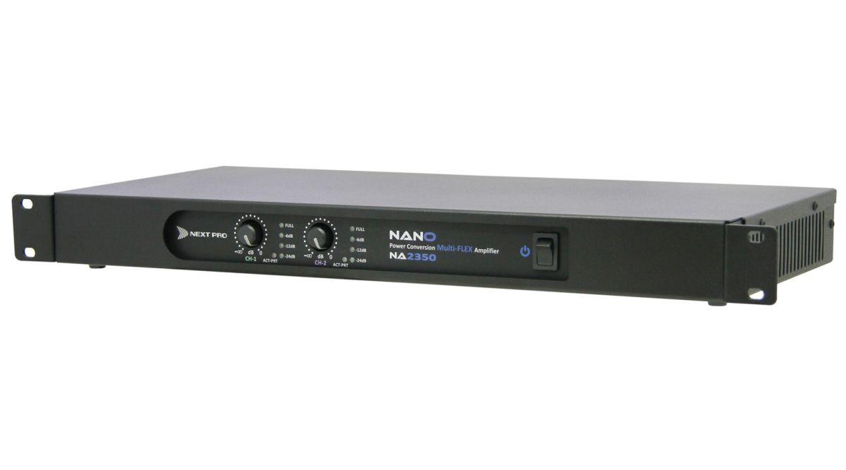 Amplificador digital com 2 canais de 350W em 2Ω, 4Ω ou 8Ω | Next Pro | NA 2350