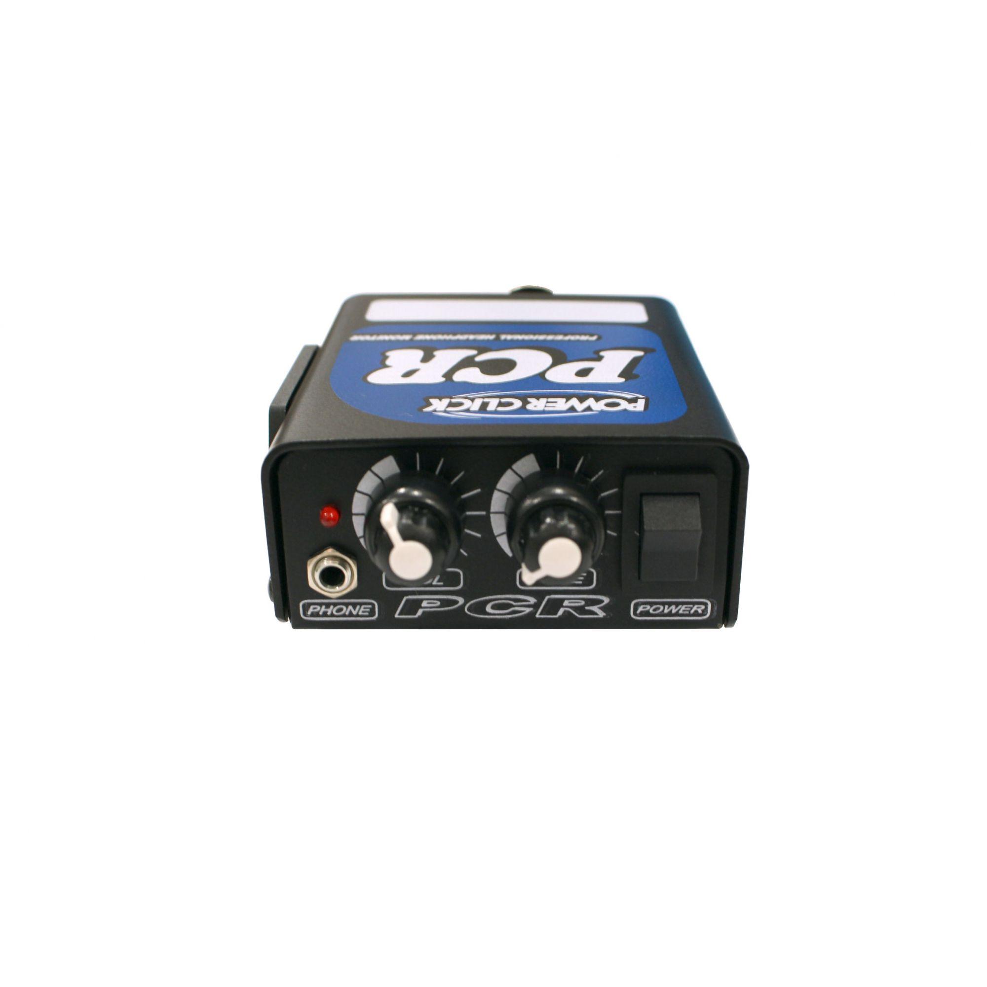 Amplificador para fone com In / Out XLR | Bateria 9v ou Fonte Bivolt já inclusa | Power Click | PCR