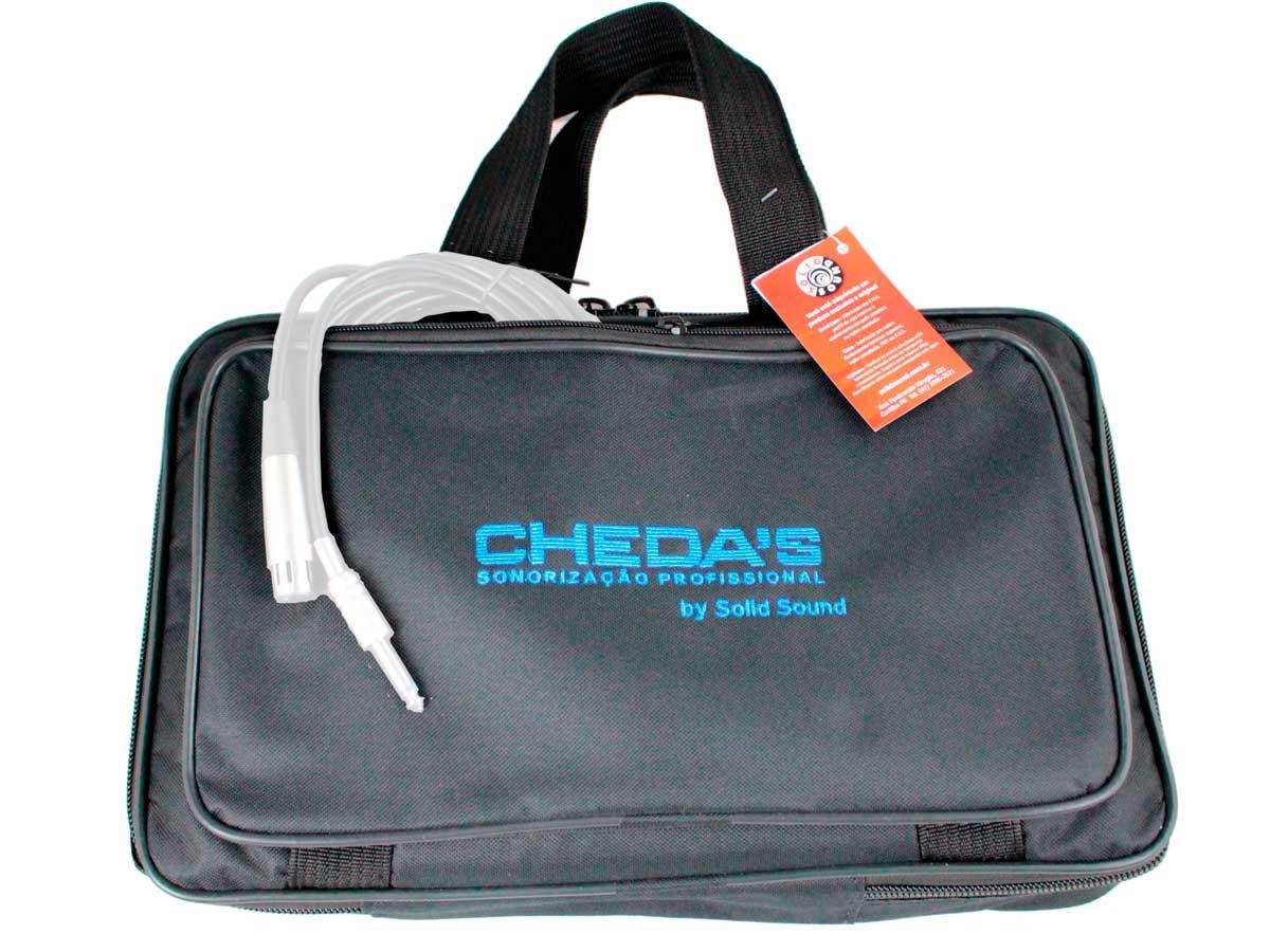 Bag de microfone com espaço para 6 unidades + bolso frontal e traseiro   Solid Sound   BAGMIC