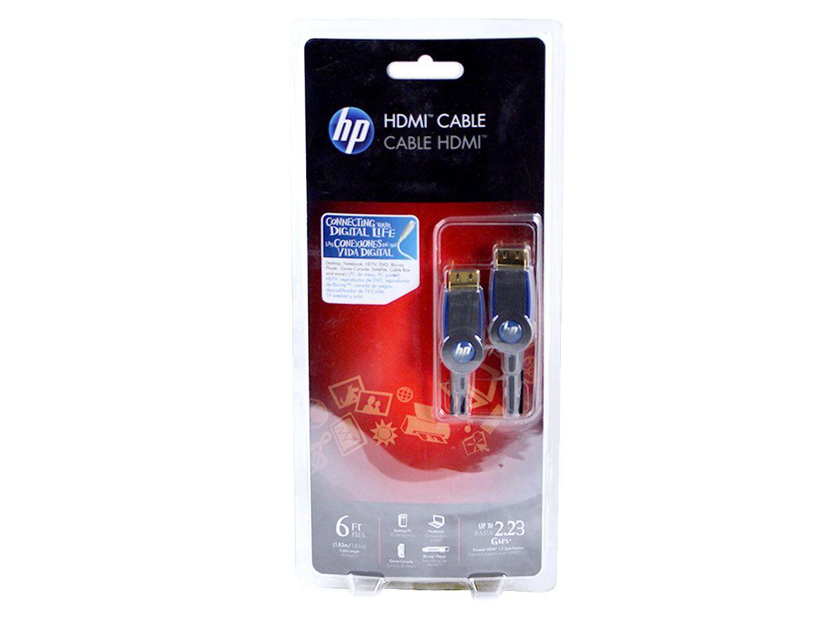 Cabo HDMI1.3 de 1.80 metro, Condutores de cobre e Blindagem tripla | HP | HP-HDMI-6-ES