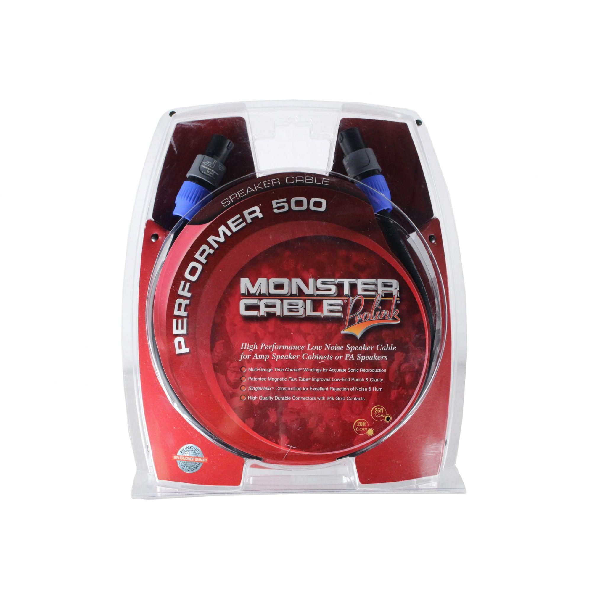 Cabo para caixa de som ou amplificador com 7,62 metros | Speakon / Speakon Neutrik | Monster Cable | M P500-S-25SP