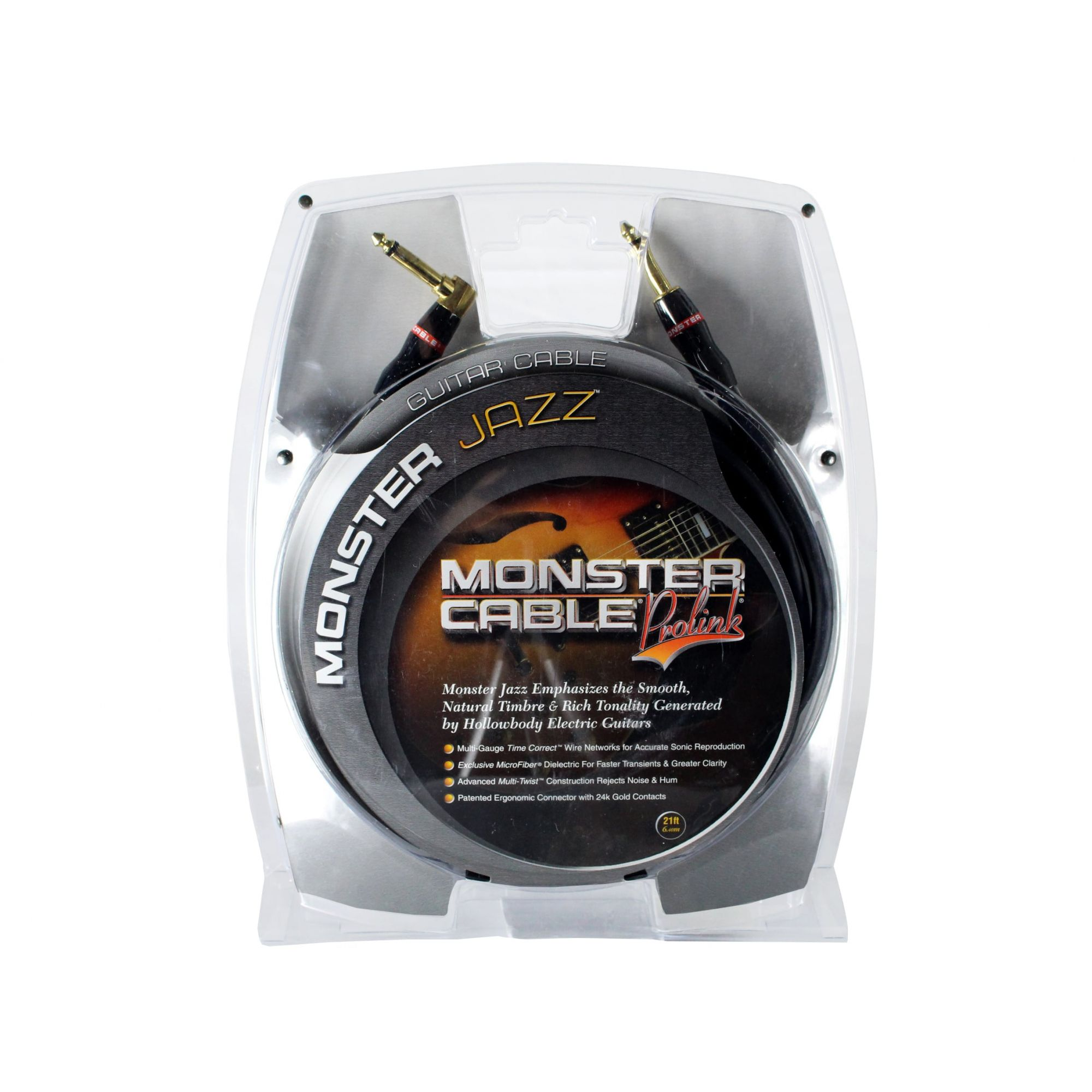 Cabo para instrumento P10 90° 6,40m Monster Cable MJAZZ21A