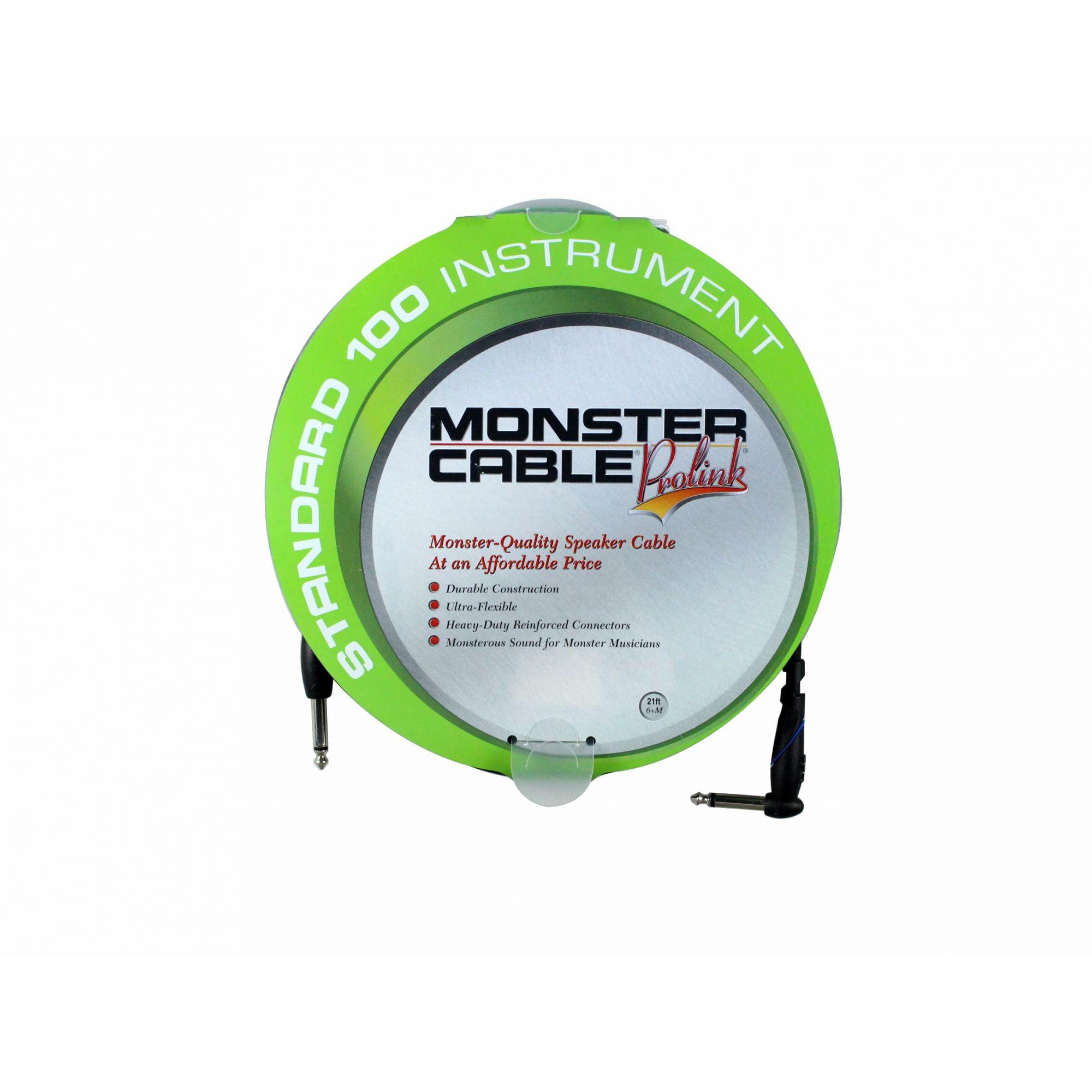 Cabo para instrumento P10 90° / P10 mono com 6,40 metros | Standard 100 Instrument | Monster Cable | S100-I-21A