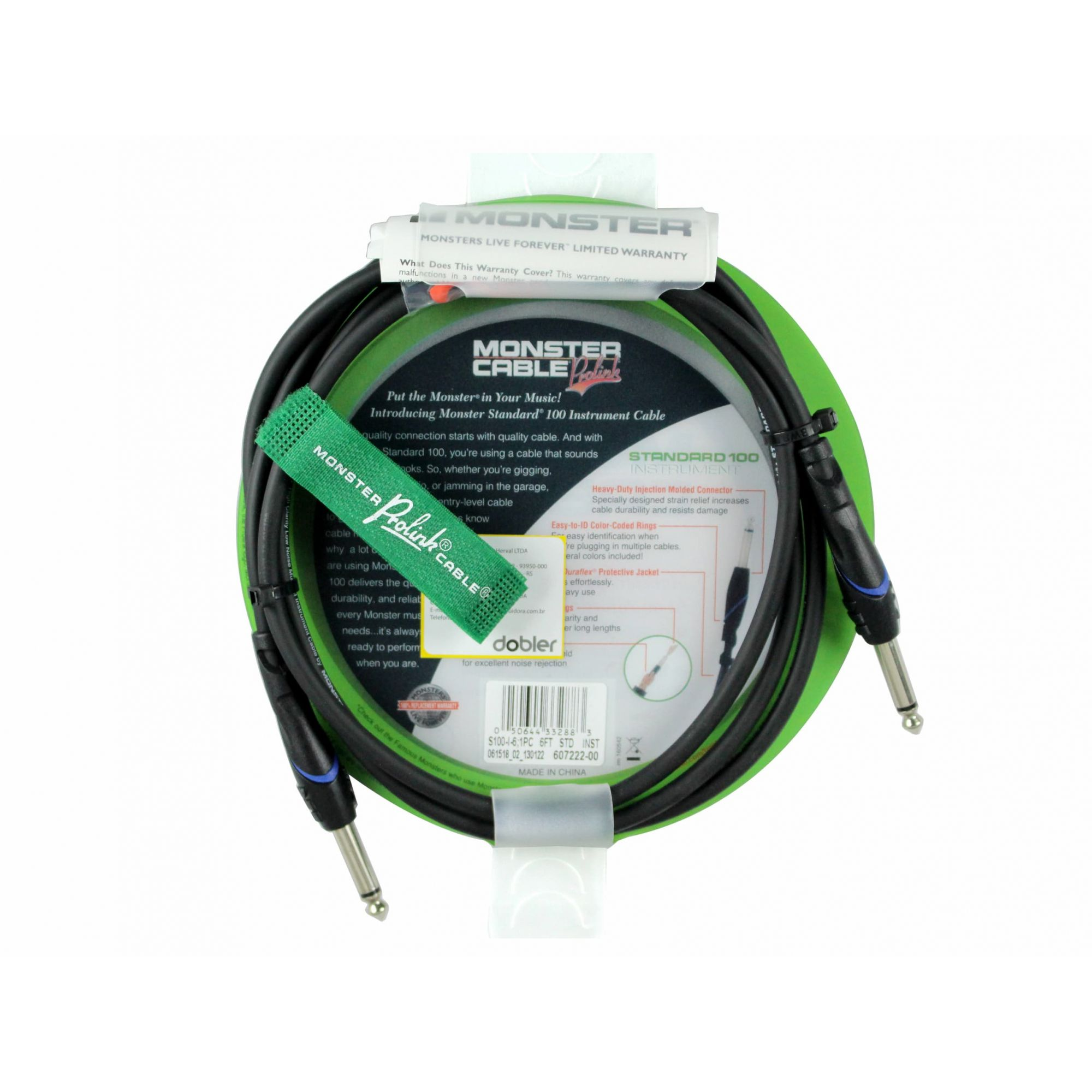 Cabo Instrumento P10 2m Monster Cable S100-I-6