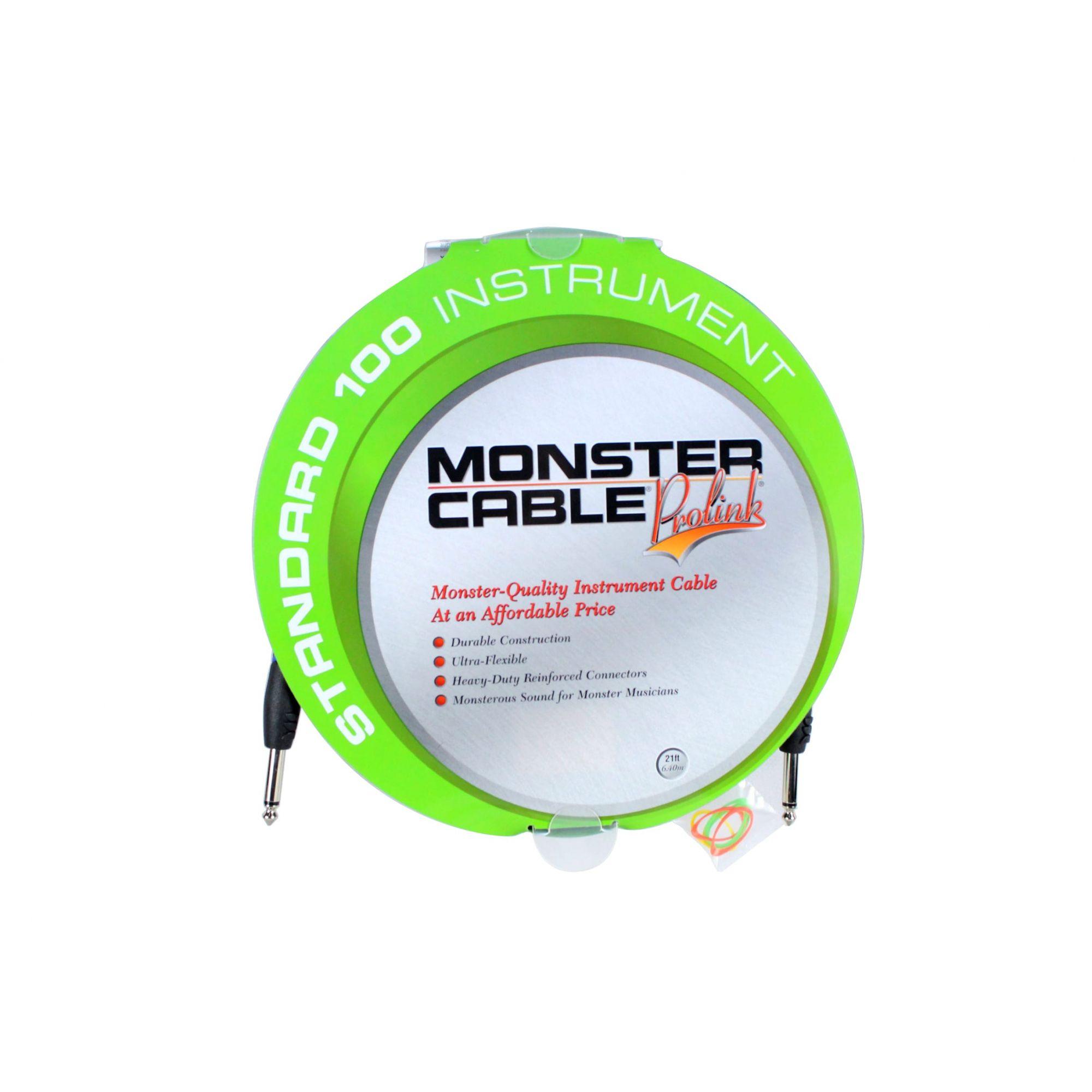 Cabo para instrumento P10 / P10 mono com 6,40 metros | Standard 100 Instrument | Monster Cable | S100-I-21