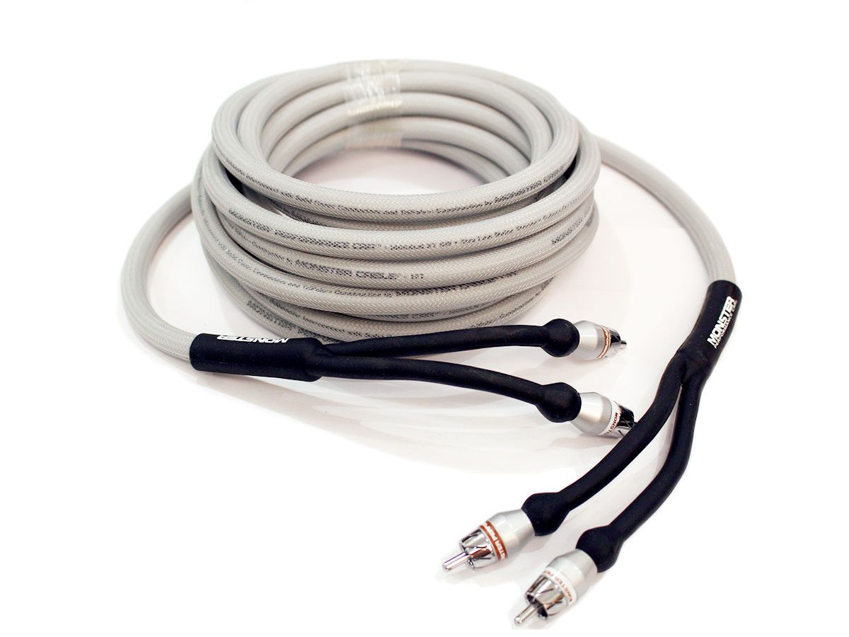 Cabo RCA 5m subwoofer automotivo Monster Cable MPC-I402-SW-5M