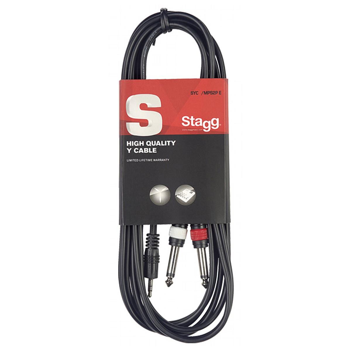 Cabo Y 1 P2 estereo para 2 P10 monos 1m Stagg SYC1/MPS2P