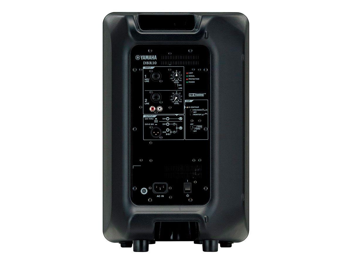 Caixa acústica 2 vias bi-amplificada   10 polegadas   325W RMS   129dB SPL   Yamaha   DBR10