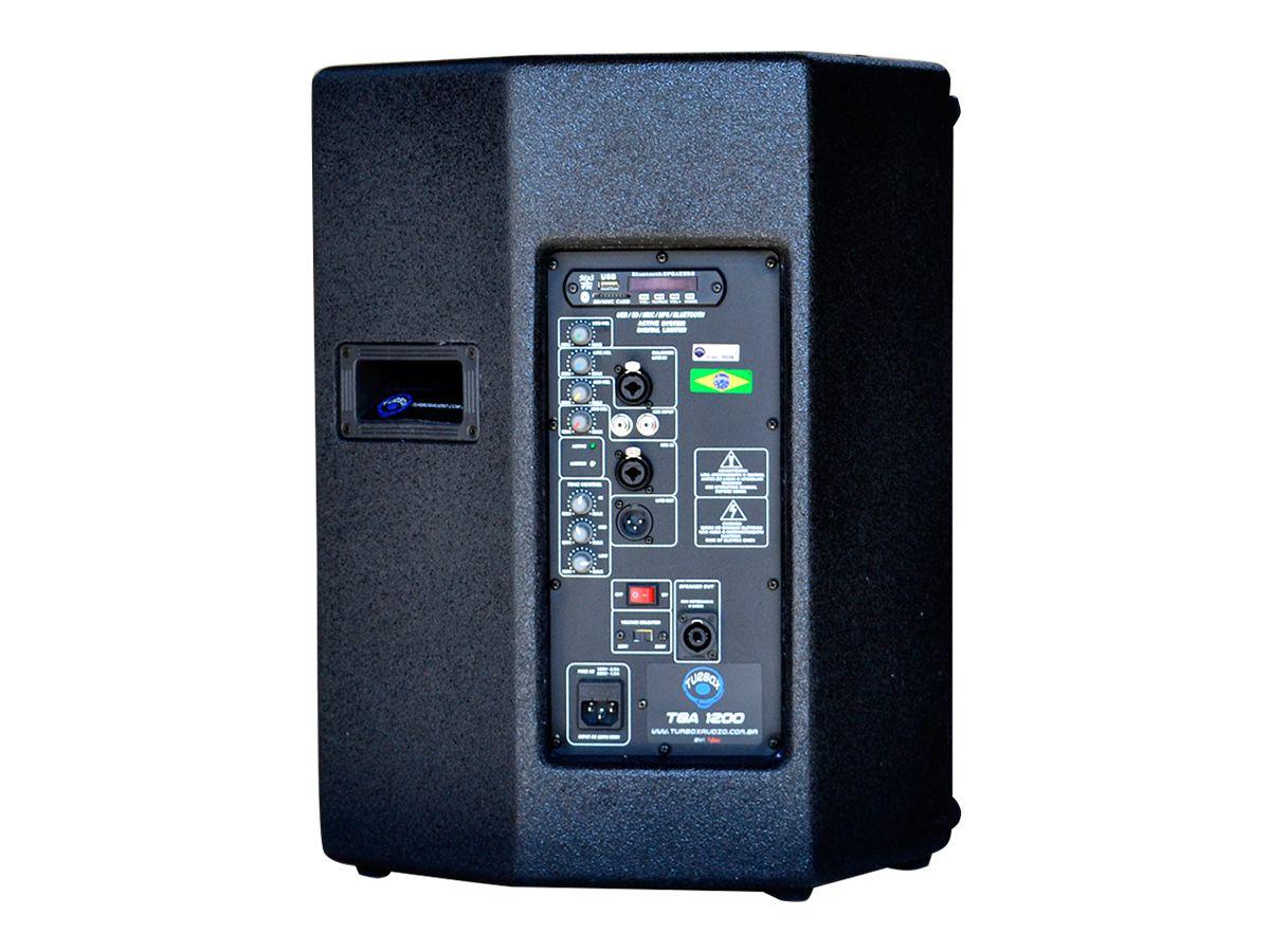 Caixa Ativa 12 Pol 250W RMS USB Bluetooth Turbox TBA1200A