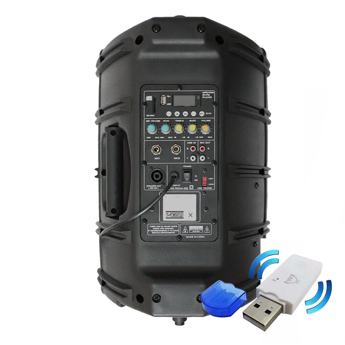 Caixa Ativa 10 Polegadas USB e Bluetooth CSR2500AUSB