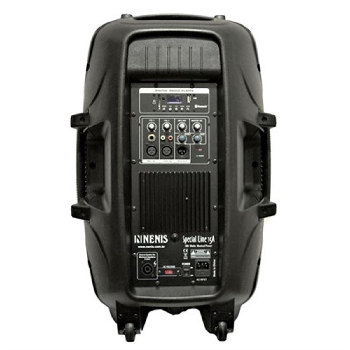 Caixa ativa 15pol 150W Radio Bluetooth USB Nenis LINE15A