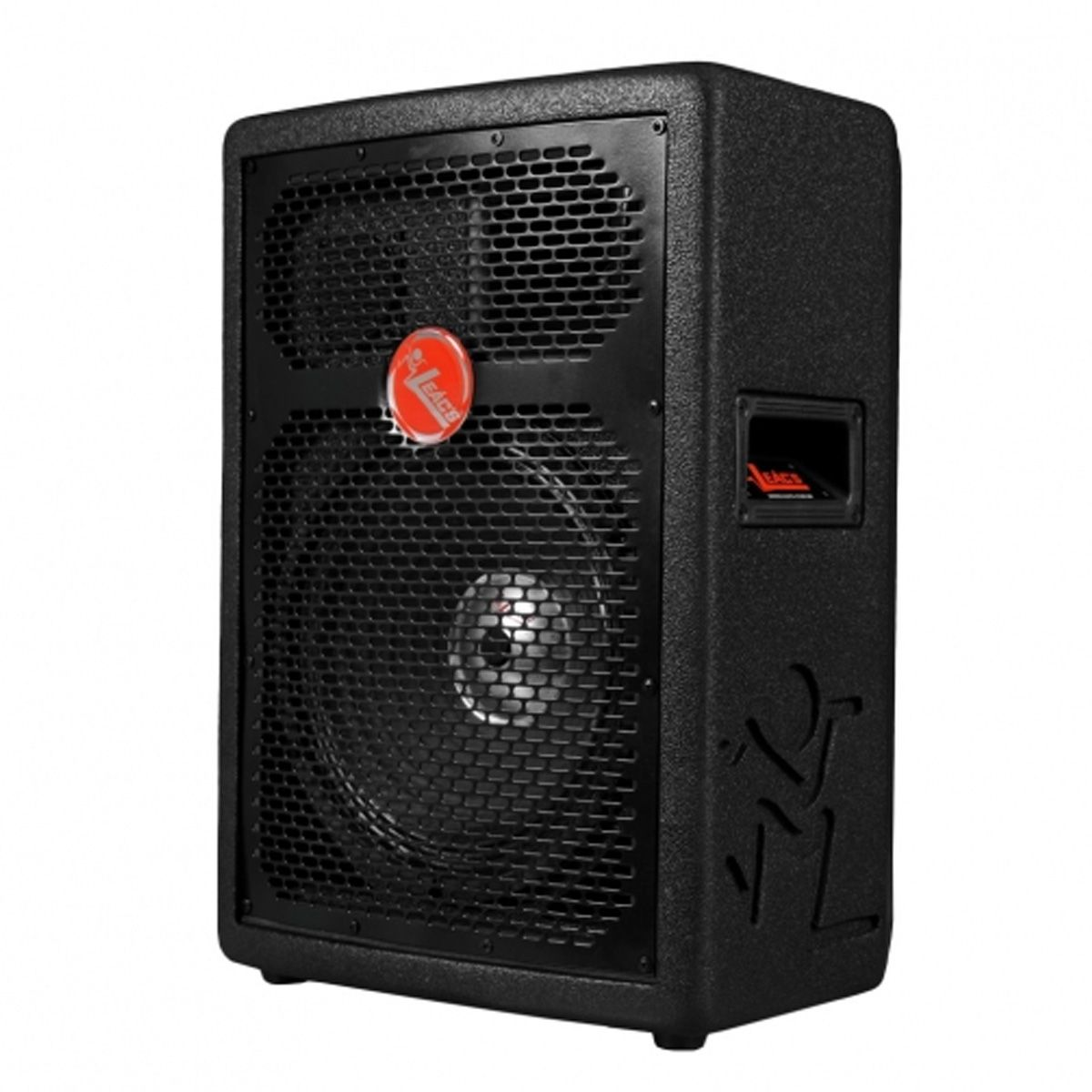 Caixa ativa 3 vias, 10 polegadas e 150 Watts RMS | USB e Bluetooth | Gabinete de madeira naval | Leacs | FIT 160A