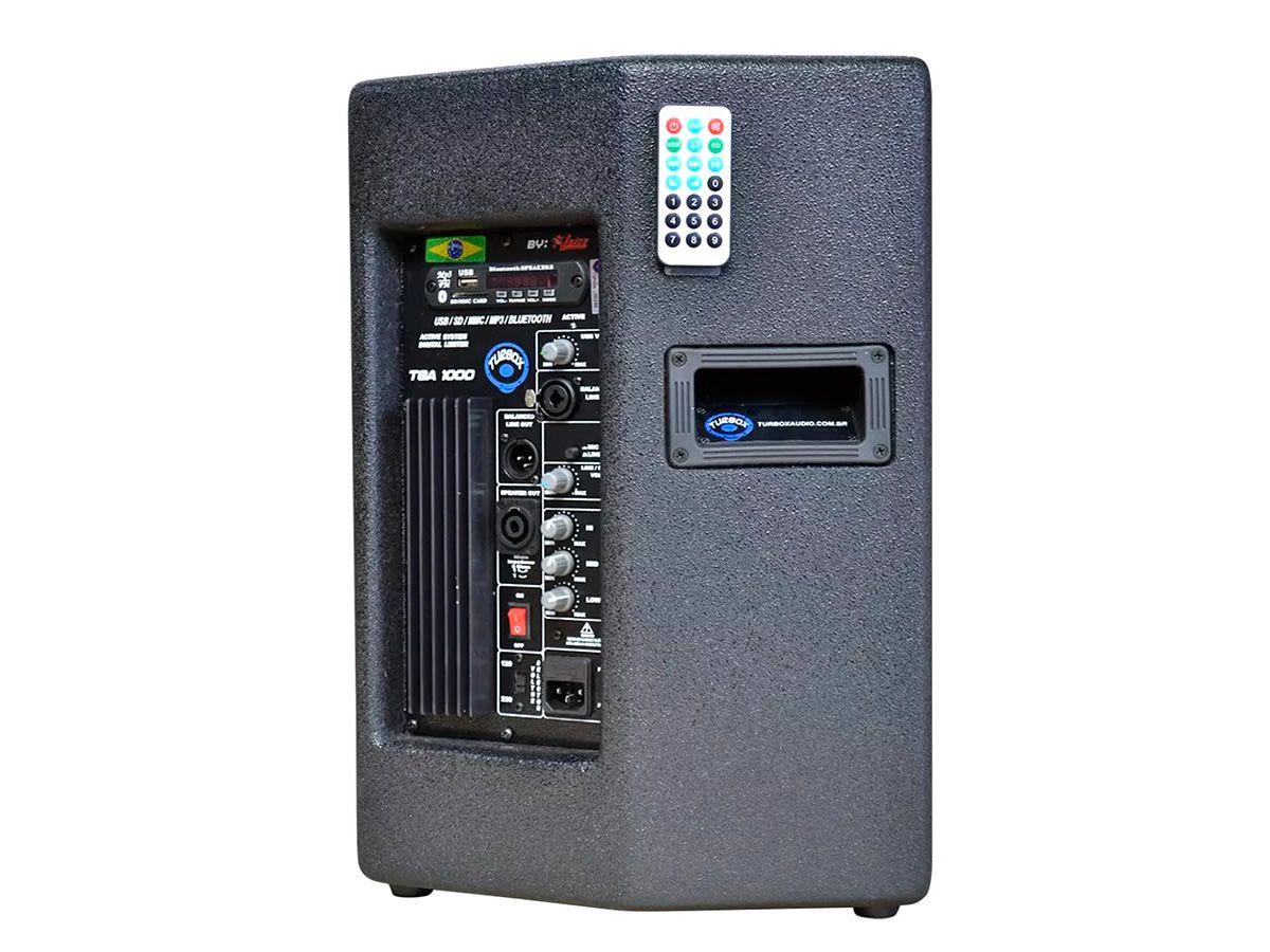 Caixa Ativa com alto-falante de 10 Polegadas e 150W RMS |Leitor USB, FM e Bluetooth | Turbox | TBA1000A