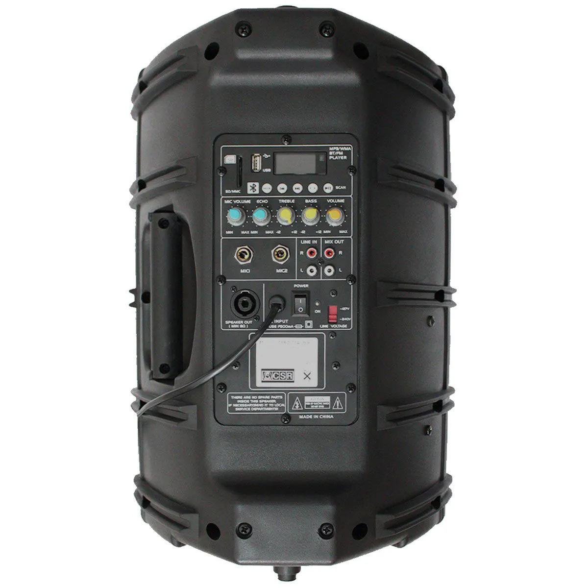 Caixa Ativa CSR 2500AUSB + Microfone sem Fio TSI X1UHF
