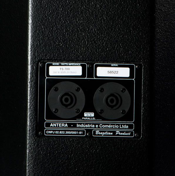 Caixa passiva de 2 vias com 300W RMS e alto falante de 15 polegadas | Antera | TS700