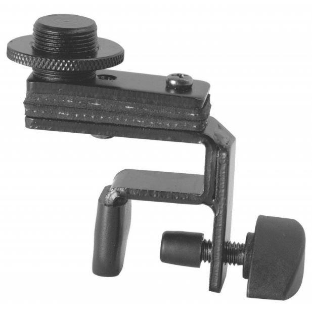 Clamp compacto de microfone, bateria e percussão | Feito em aço com rosca 5/8 | On-Stage | DM01