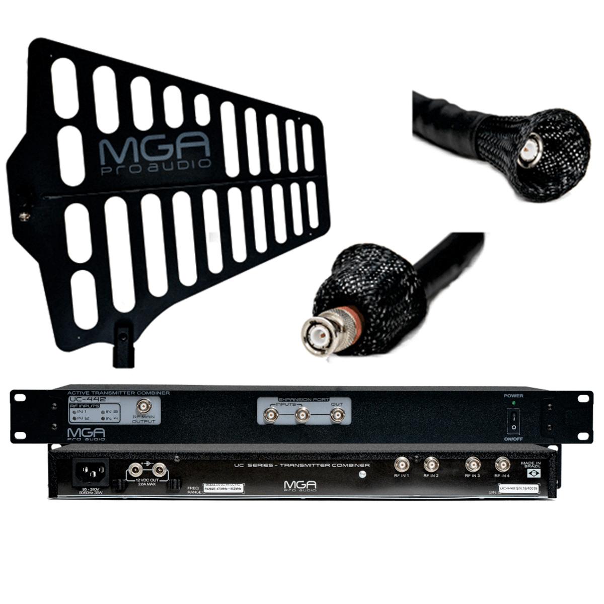 Combiner para IEM com Antena e Cabo 10m MGA UC4422100A1