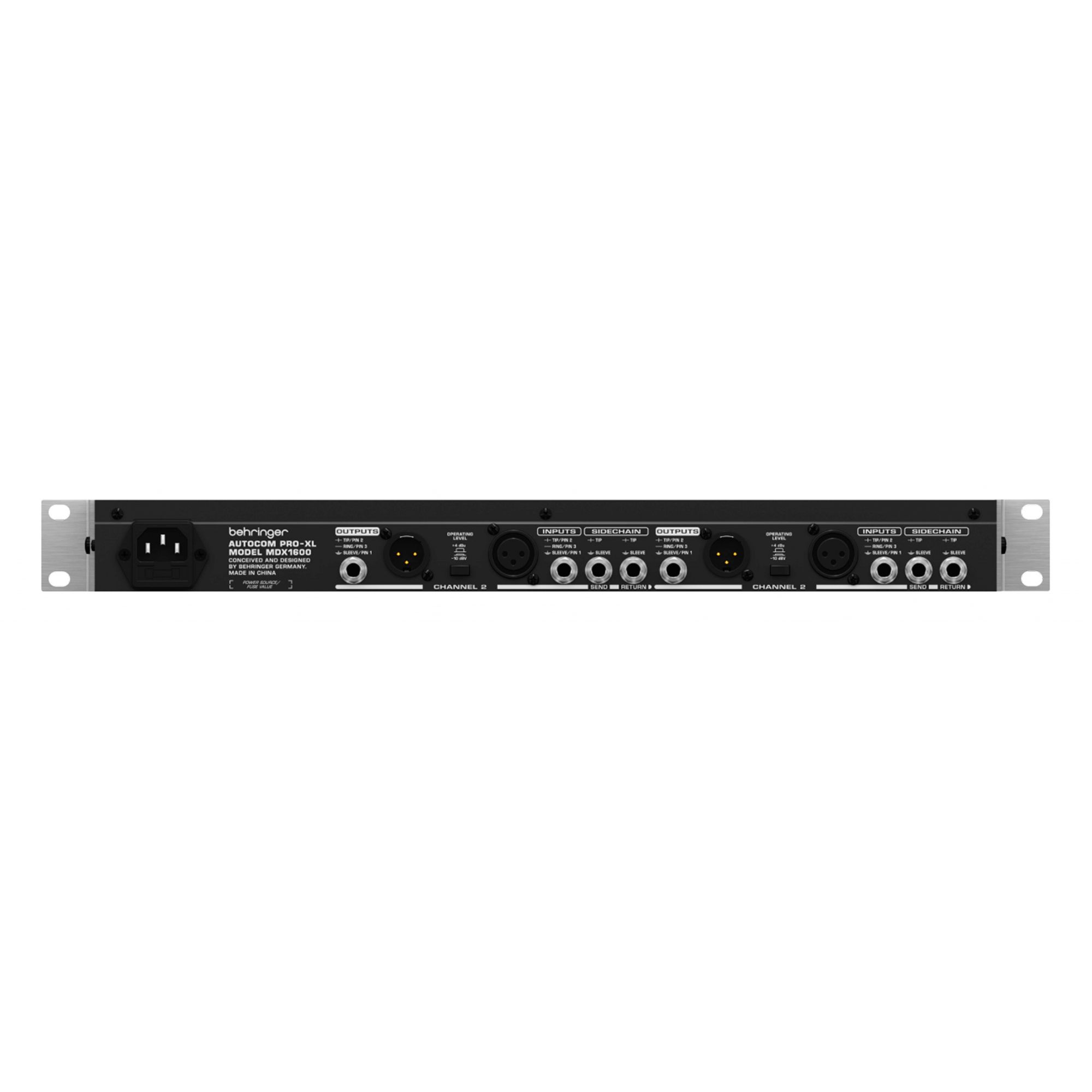 Compressor de referência com 4 canais, Gate e limitador de pico | Behringer | MDX1600
