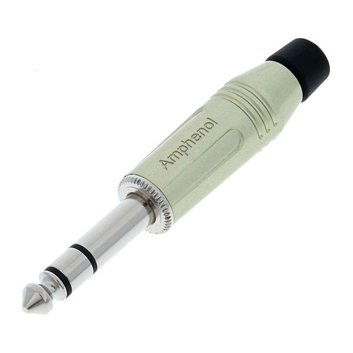 Conector P10 estéreo de linha com contatos em Nickel | Amphenol | ACPS-GN
