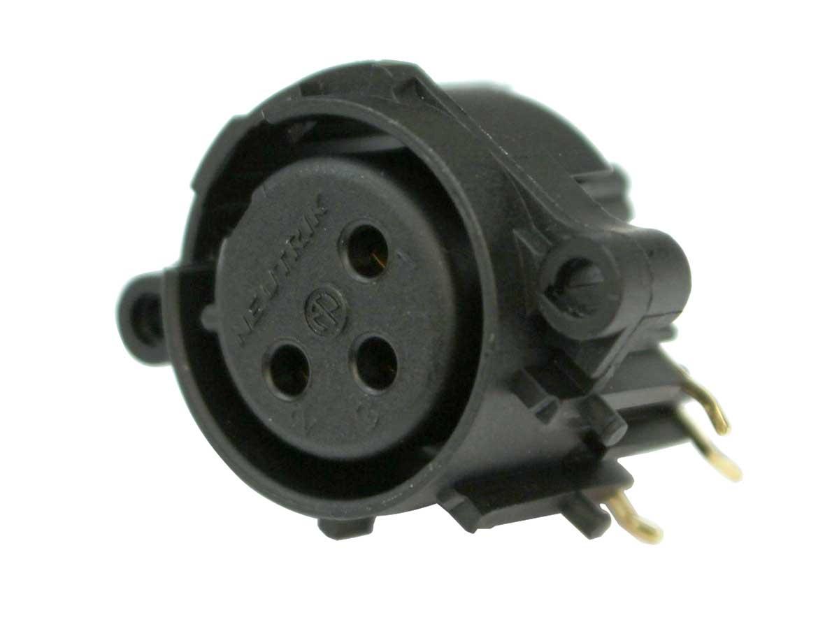 Conector Plug Xlr Femea Placa Pci Pcb Neutrik Nc3faah-0