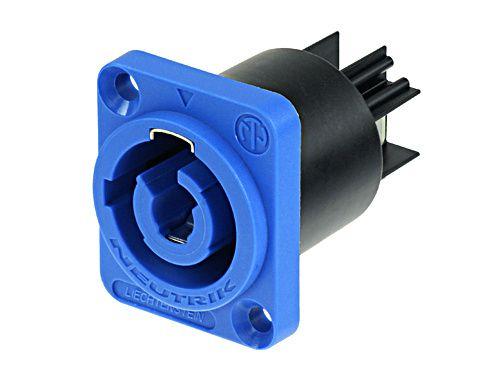 Conector powerCon Azul painel 20A Neutrik NAC3MPA
