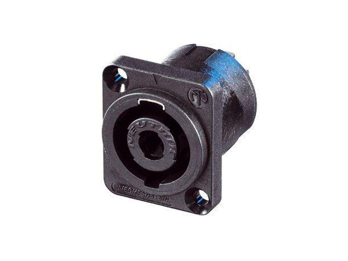 Conector Speakon quadrado de 4 pólos para painel | Neutrik | NL4MP-UC