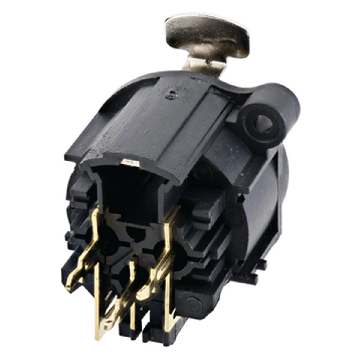 Conector XLR Fêmea vertical 3 p PCB PCI Amphenol AC3FAV-AU-B