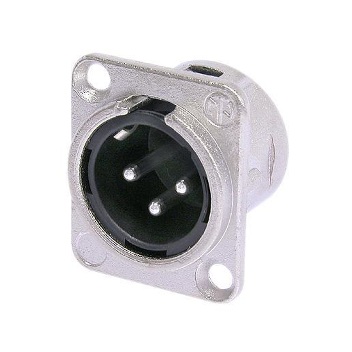 Conector XLR Macho 3 pinos de painel Neutrik NC3MD-L-1